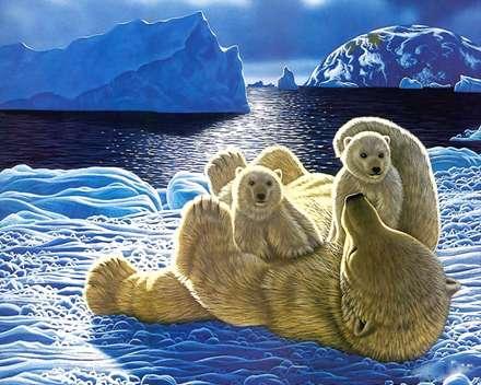 نقاشي خرس قطبي