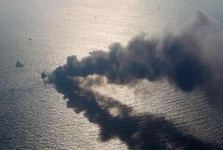 آتش گرفتن کشتي ليسکو گلوريا در درياي بالتيک