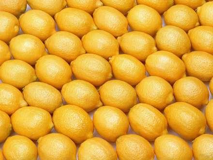 ليموهاي زرد کتار هم چيده شده