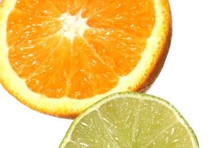 برش دروني ليمو و پرتقال