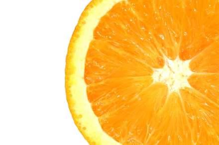 برش دروني پرتقال از نزديک