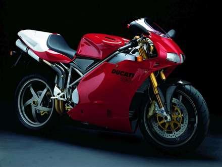 موتور سيکلت دوکاتي قرمز مدل 996R