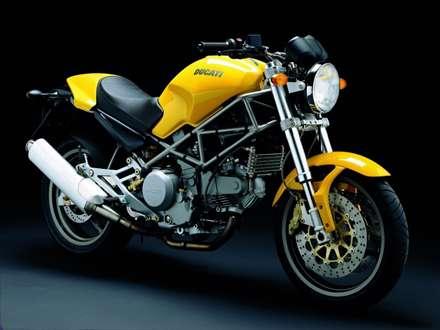 موتور سيکلت دوکاتي زرد مدل M600