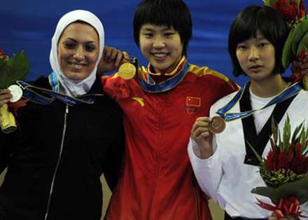 تصاوير حضور زنان ايراني در مسابقات آسيايي کوانگجو
