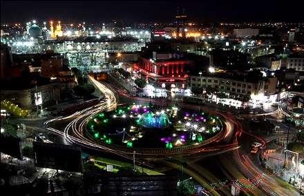 آذین بندی خیابانها و معابر مشهد مقدس مشهد در آستانه نیمه شعبان