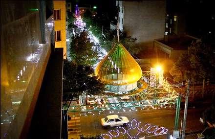 آماده سازی و آذین بندی خیابان ها و معابر تهران در آستانه نیمه شعبان