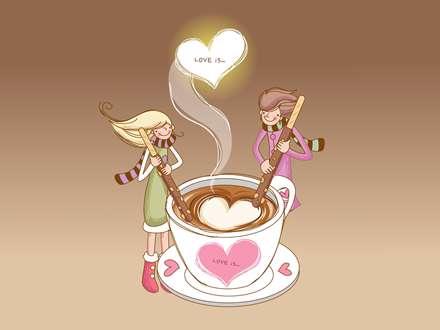 یک فنجان شکلات داغ عاشقانه