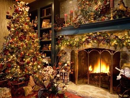 شومینه شب کریسمس