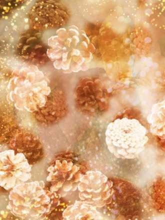 کاغذ دیواری کاج و گل