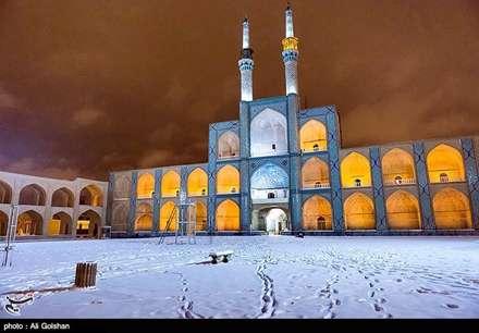 بارش برف زمستانی-یزد