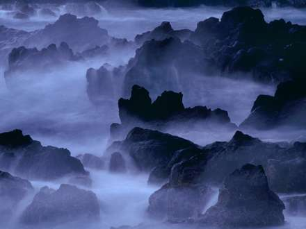 کوه های مه گرفته