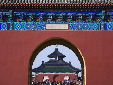 دروازه معبد چینی