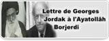 Lettre de Georges Jordak à l'Ayatollãh Borjerdi