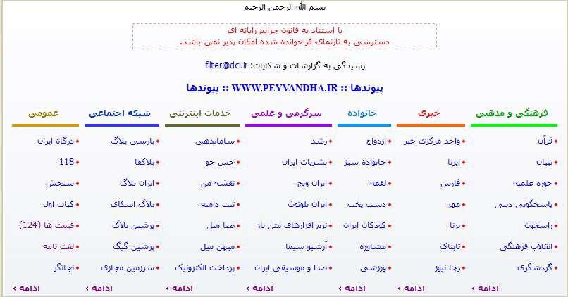 پر بازدیدترین سایت ایرانی !