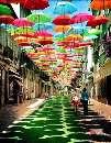 خیابانی که سرزمین عجایب آلیس را رنگ واقعیت بخشیده است!