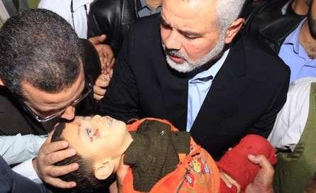 هنیه رهبر حماس و قندیل نخست وزیر مصر جسد کودک........