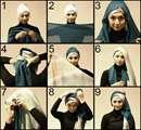 حجاب اسلامی بادورنگ شال