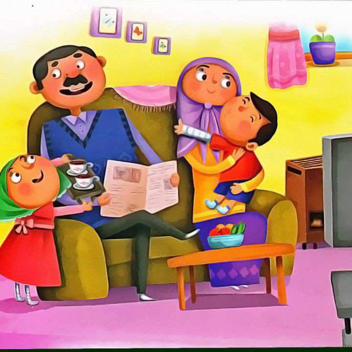 ترانه شاد کودکانه درباره پدر و مادر