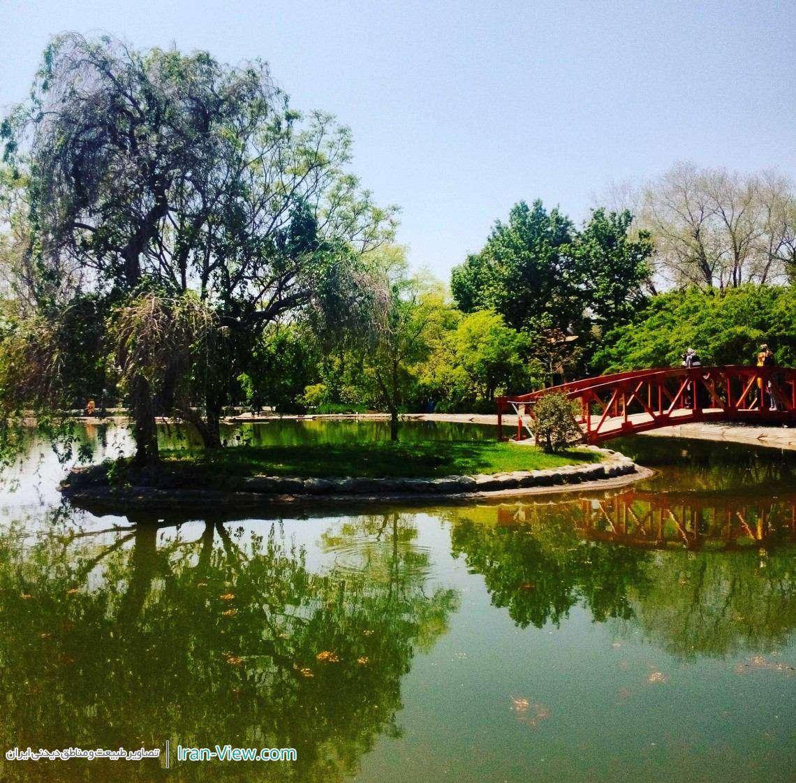 دریاچه زیبای باغ ملی گیاه شناسی،تهران–Lake of Tehran's Botanical Garden