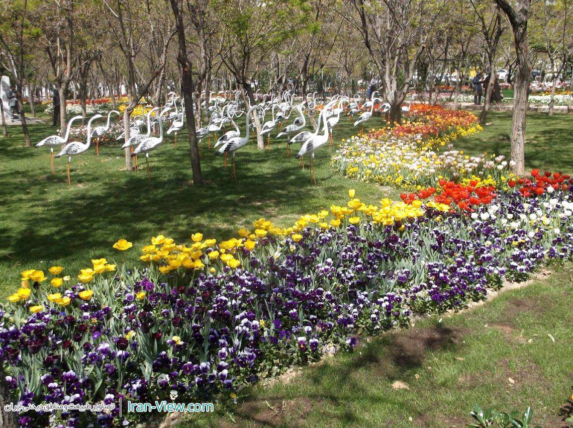 جلوه ای بهاری از باغ لاله ها در بوستان میلاد تهران – Milad Park in Tehran