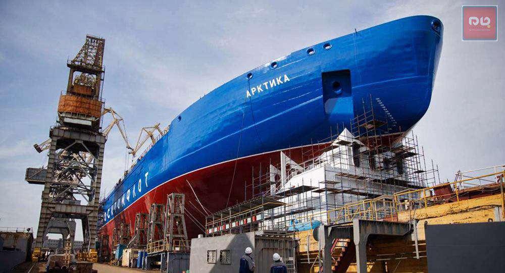 «آرتکیتا» قویترین کشتی یخشکن اتمی جهان در سنپترزبورگ به آب انداخته شد.