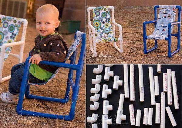 با لوله pvcصندلی کودک بساز