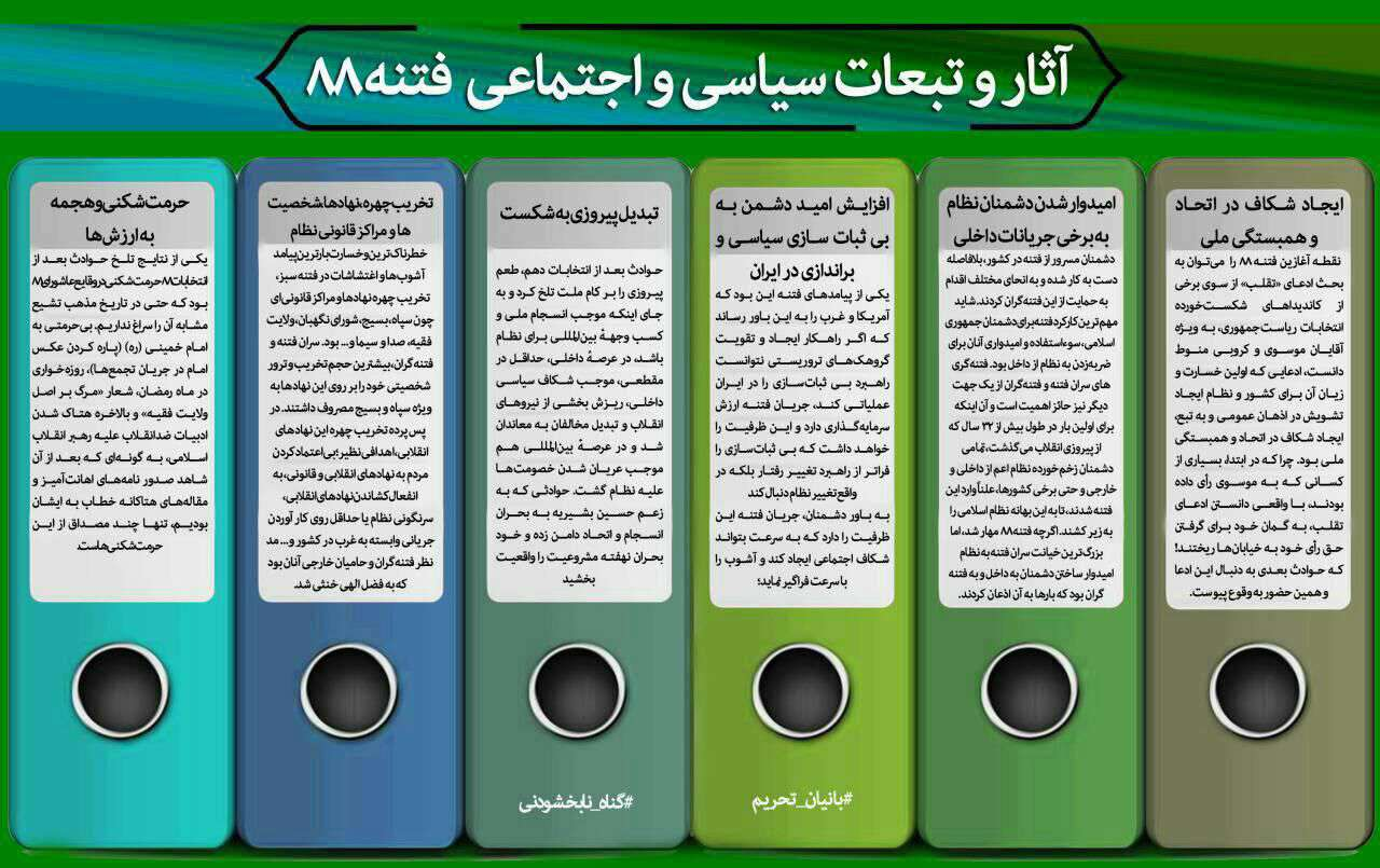 اینفوگرافی/ آثار و تبعات سیاسی اجتماعی فتنه 88