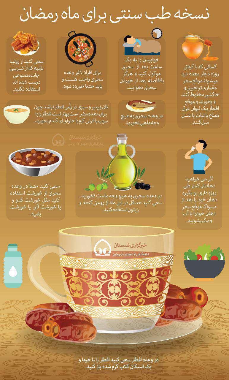نسخه طب سنتی برای ماه مبارک رمضان