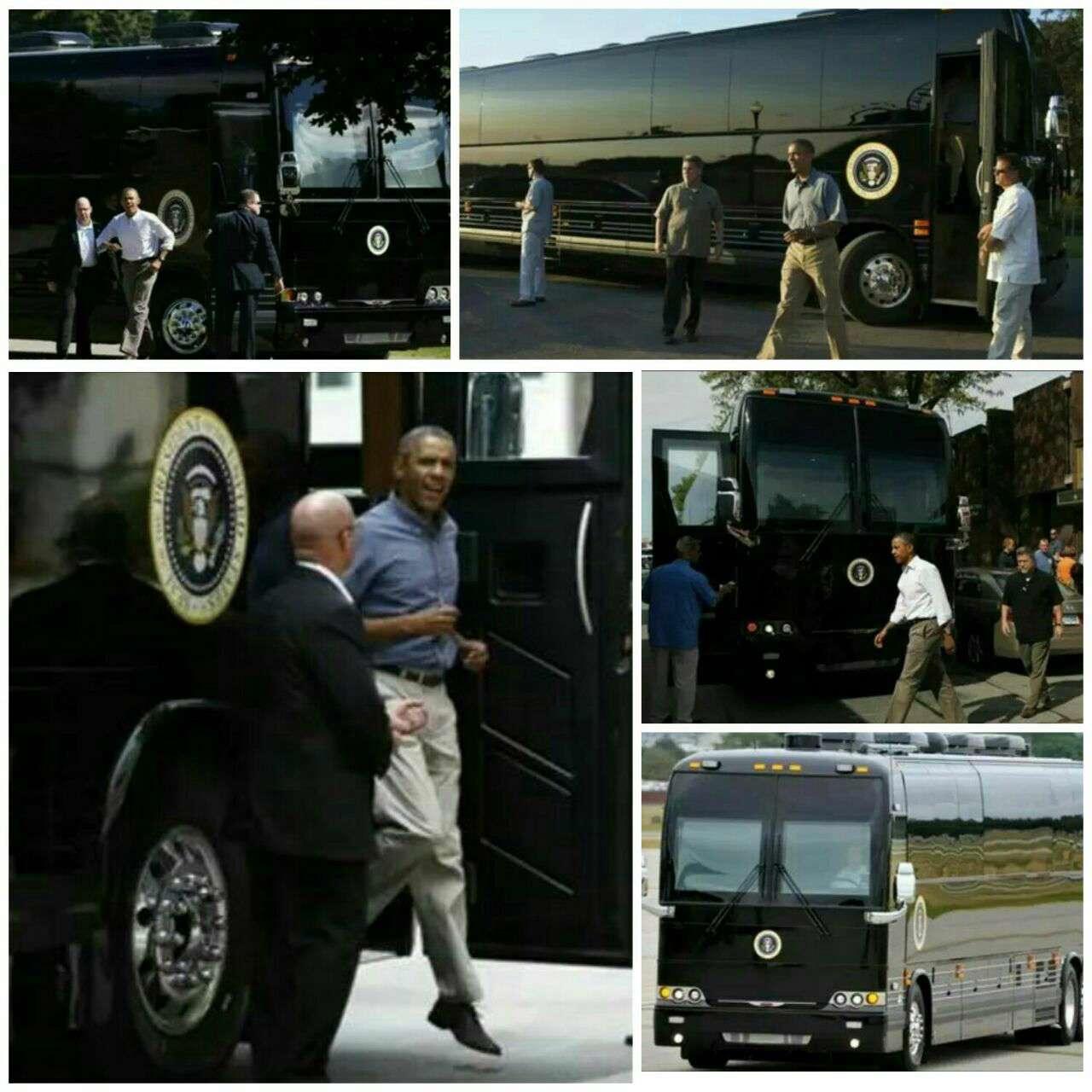 اتوبوس اوباما، امن ترین وسیله حمل و نقل بین شهری