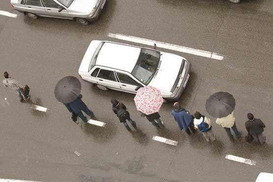 برخورد با خودروی مسافرکش غیر تهرانی