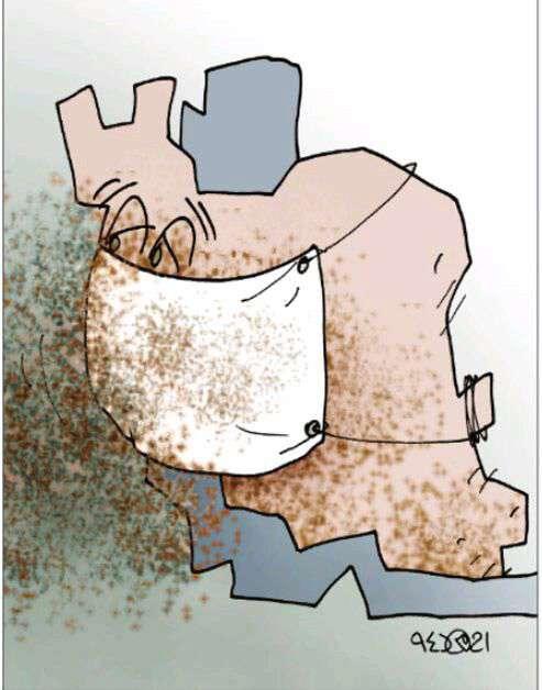 کاریکاتور/ ایران سرفه میکند!!!