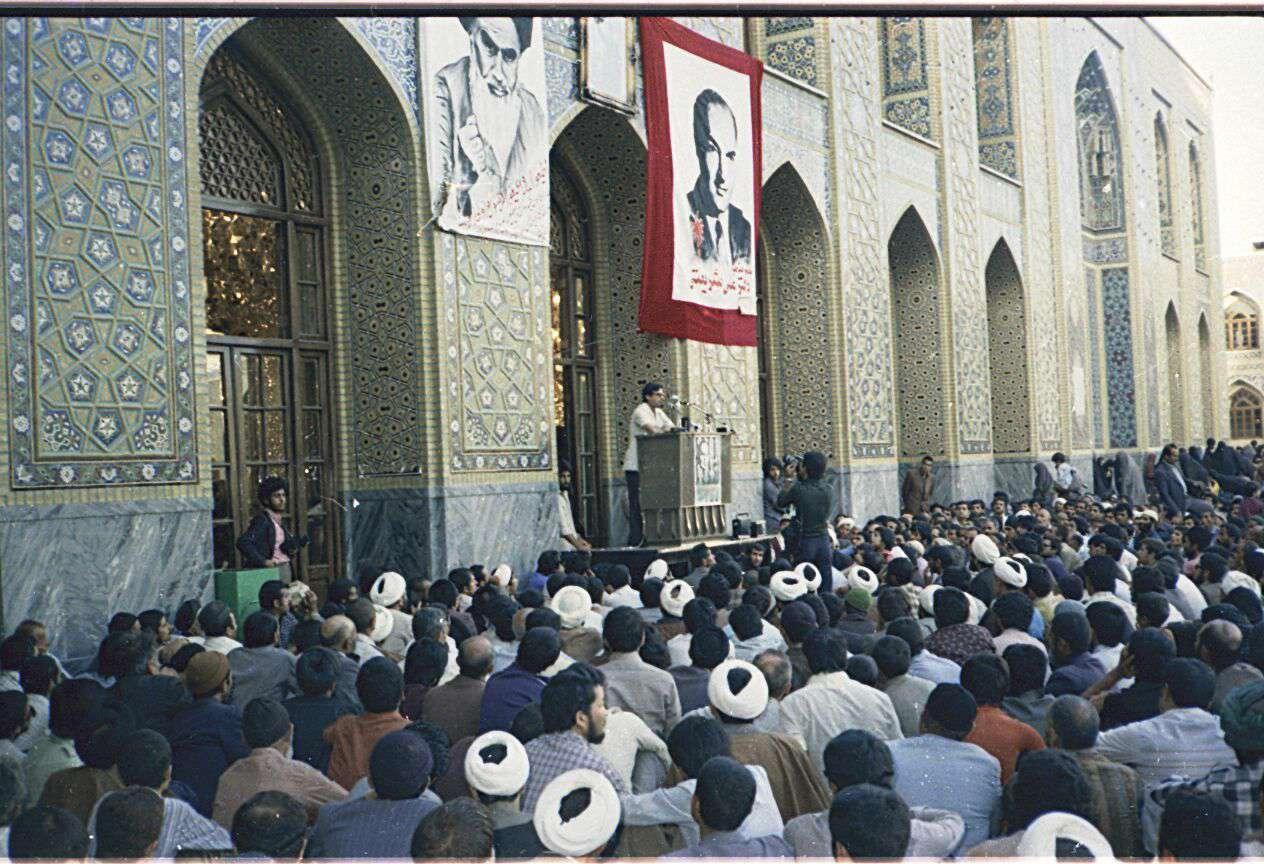 سخنرانی شهید آیت به مناسبت سالروز درگذشت دکتر علی شریعتی در حرم رضوی - ۱۳۶۰
