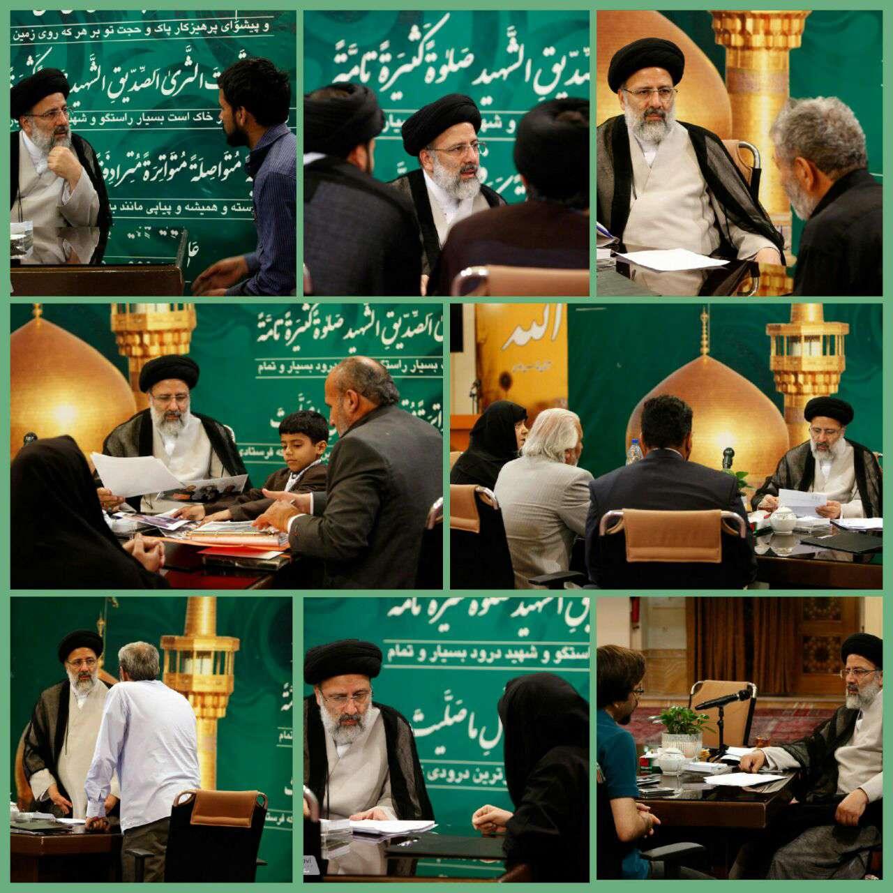 ملاقات مردمی حجت الاسلام و المسلمین رئیسی در حرم مطهر رضوی