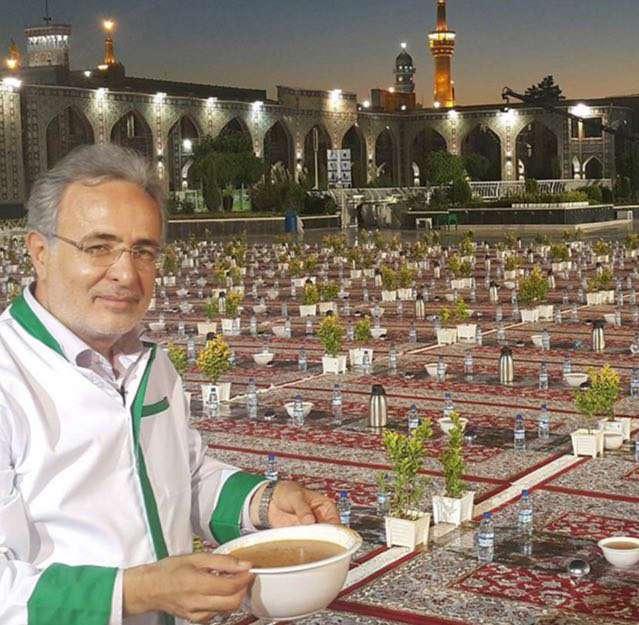 سید کاظم احمدزاده مجری توانمند تلویزیونی در لباس خدمت به حضرت رضا علیه السلام