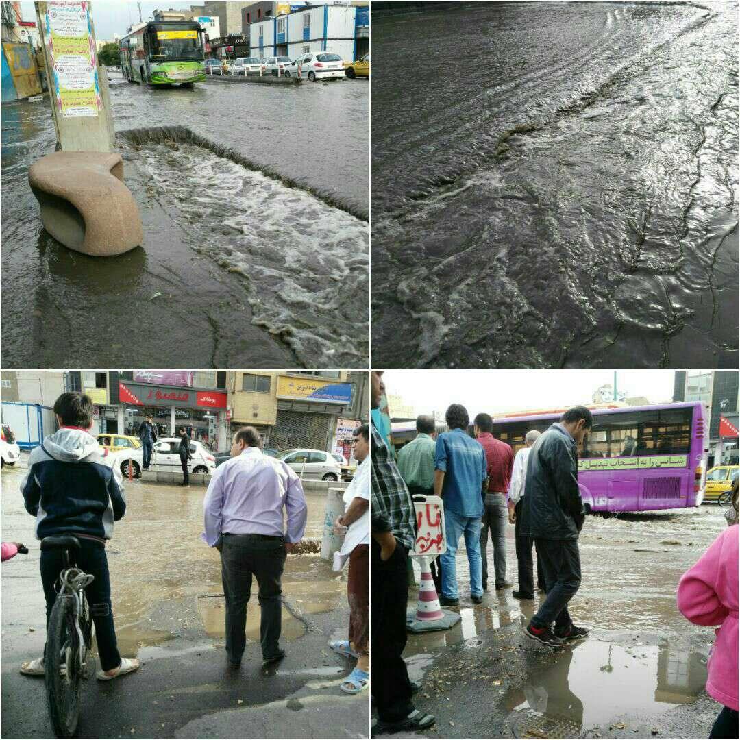 باران خردادی در شهرهای آذربایجان شرقی سیل راه انداخت