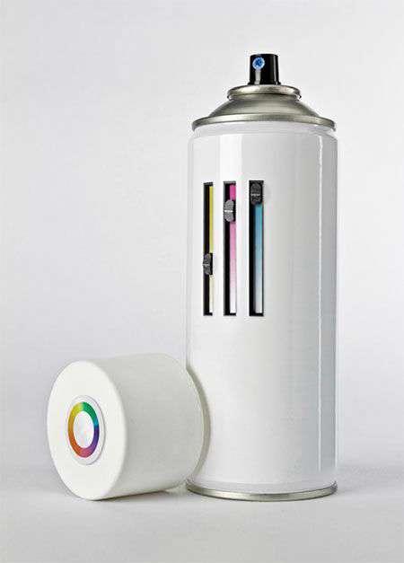 با این اسپری در لحظه رنگ ترکیبی بسازید و بپاشید