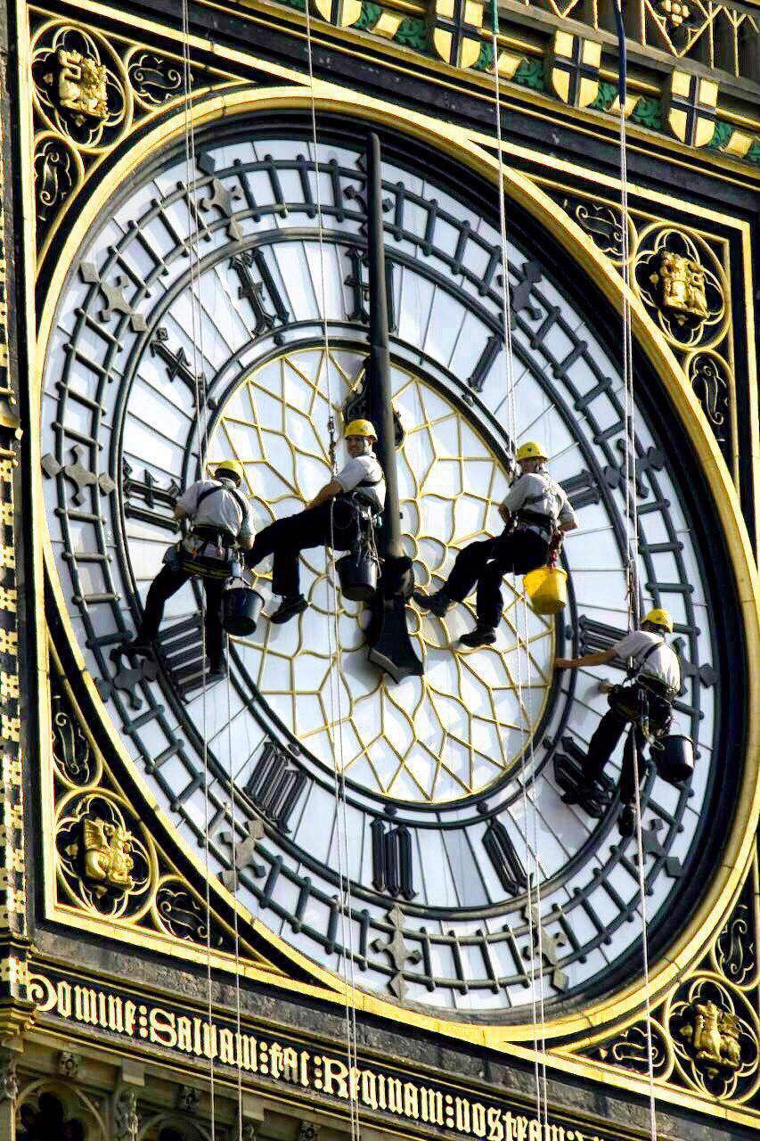 نظافت ساعت بیگ بن در لندن