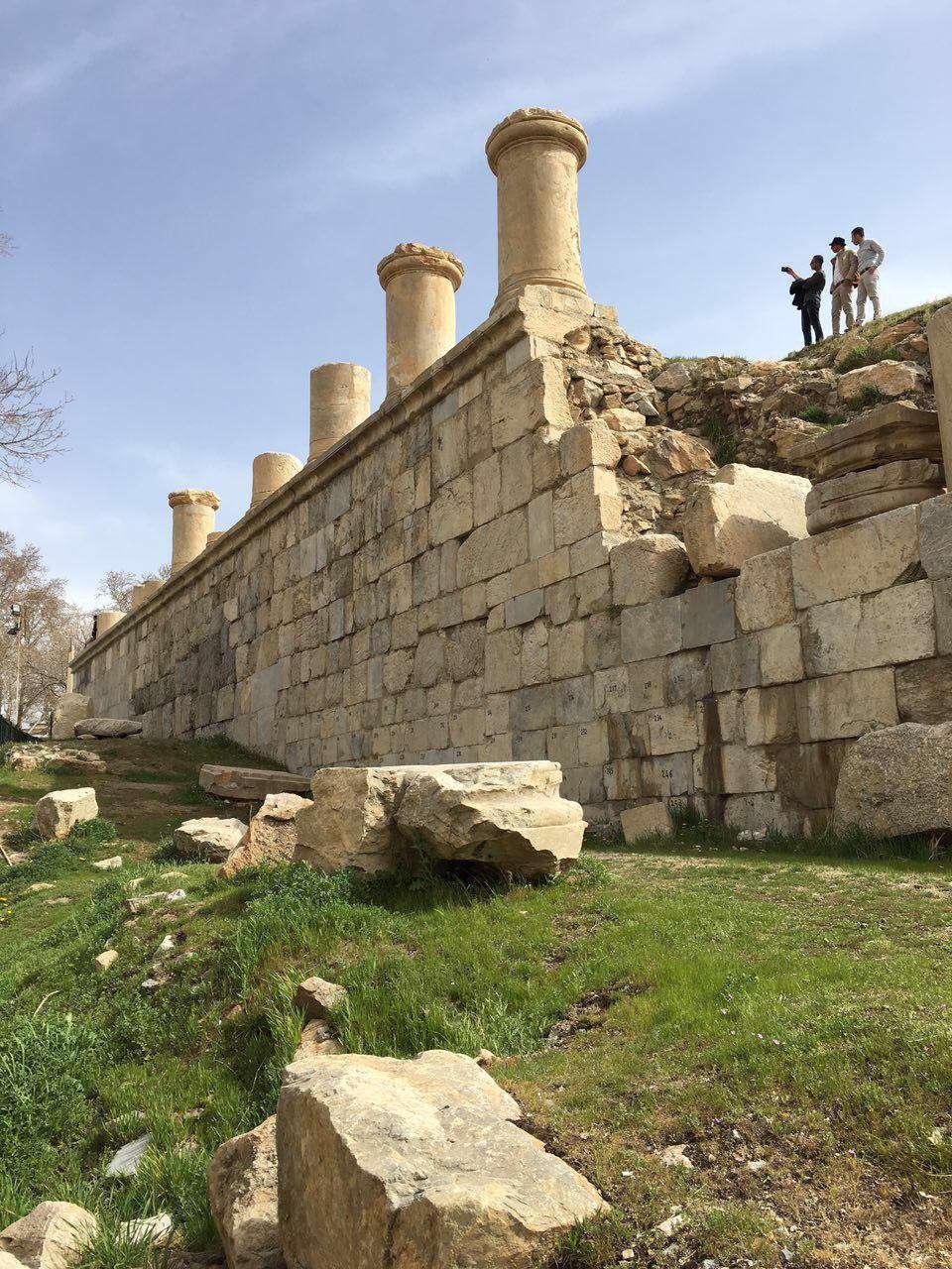"""معبد آناهيتا  """"شهرستان كنگاور- استان كرمانشاه"""""""