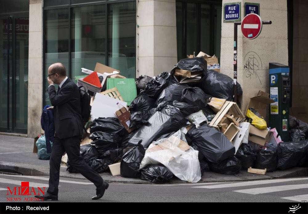 انباشت زباله ها در پاریس