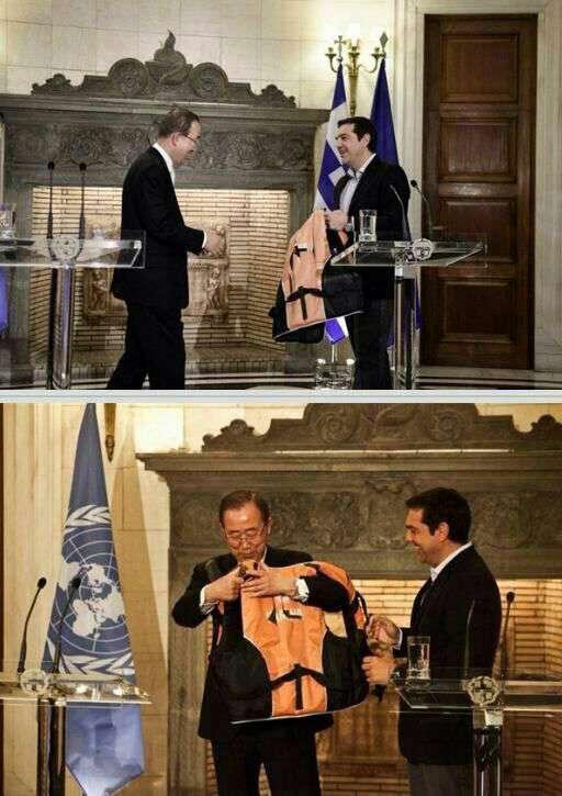 هدیه خاص و معنادار نخستوزیر یونان به بانکیمون