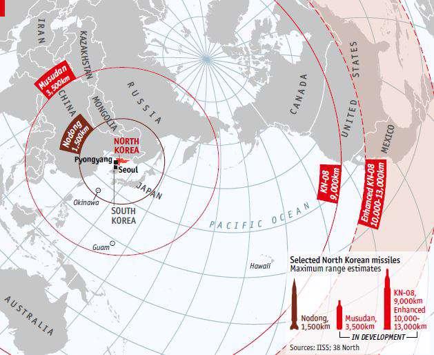 برد موشک های کره شمالی تا کجای جهان است؟