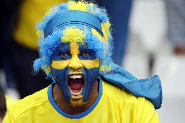 تصویر جالب یکی از طرفداران تیم سوئد در یورو 2016 فرانسه l بازی سوئد و ایرلند