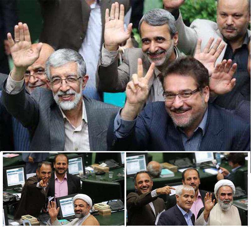 عکس های یادگاری نمایندگان در آخرین روز مجلس