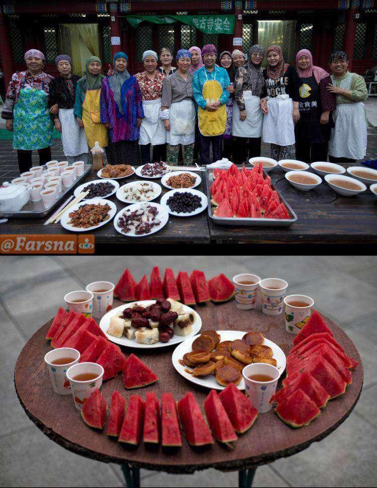 سفره افطار مسلمانان چین