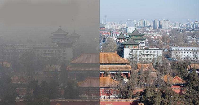 سال 2015 شهر پکن 2.5میلیون خودرو را براى دو هفته متوقف کرد تا آسمان شهر براى مراسم رژه یادبود جنگ جهانى دوم، آبى باشد.