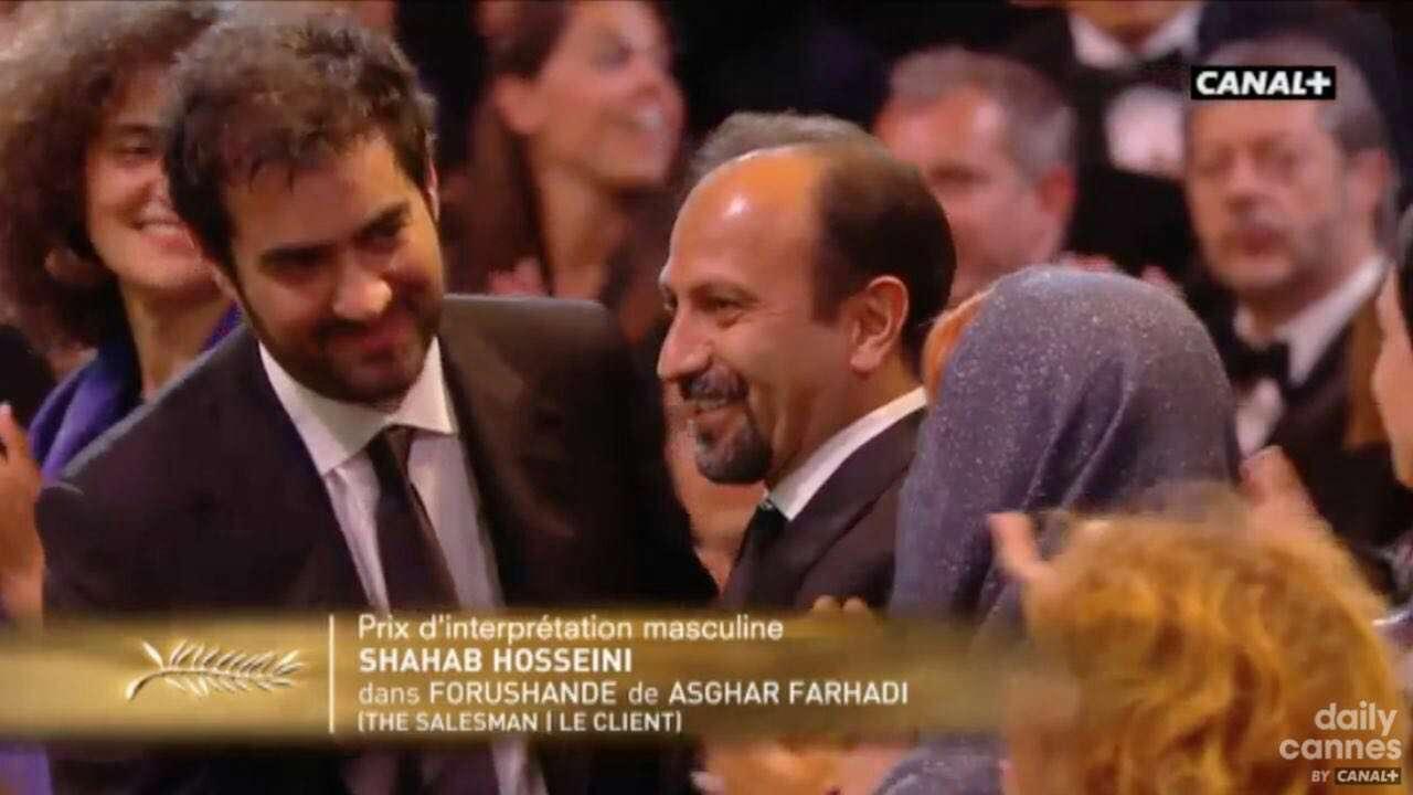 شهاب حسینی برنده نخل طلای بهترین بازیگر نقش مرد به خاطر بازی در فیلم فروشنده شد.