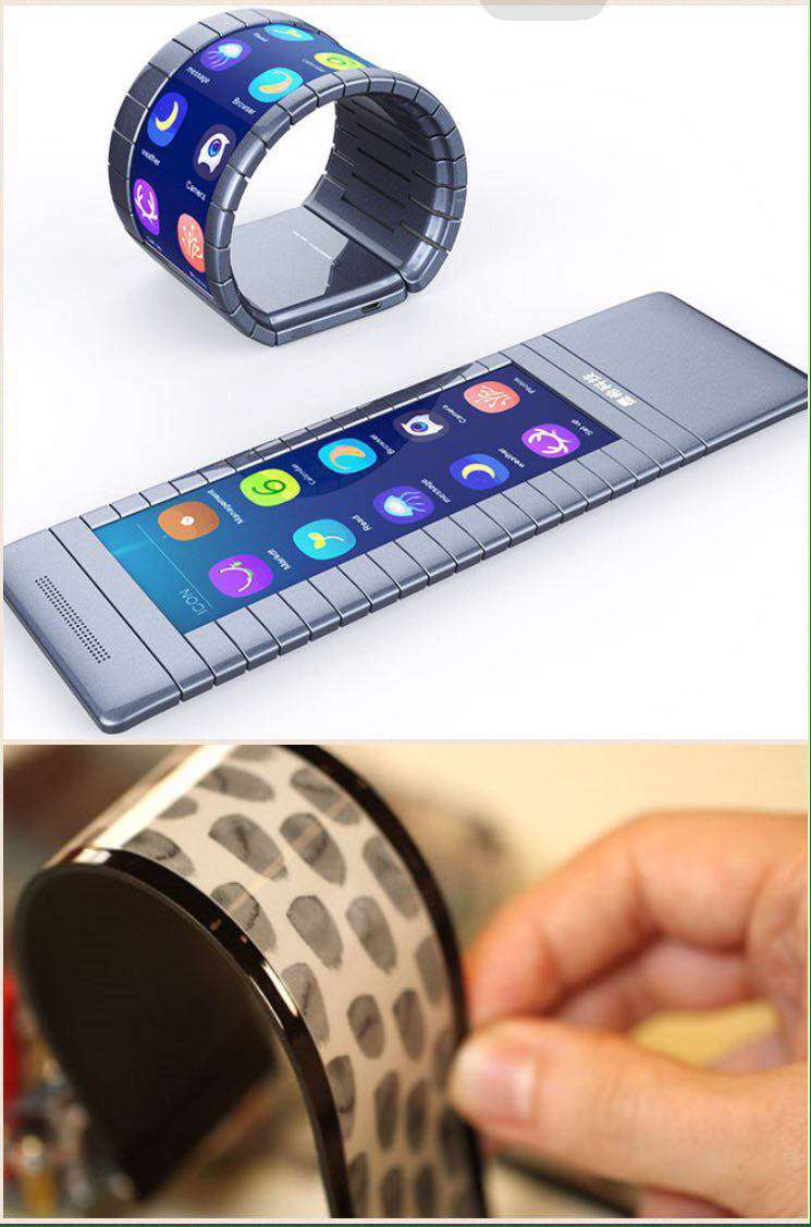 عرضه اولین گوشی هوشمند با صفحه انعطاف پذیر