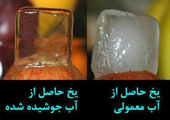 برای تهیه یخ شفاف کافیست ابتدا آب را بجوشانید و یا از آب جوشیده سماور استفاده کنید