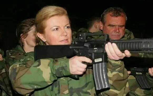 عکسی متفاوت از رییس جمهور کرواسی