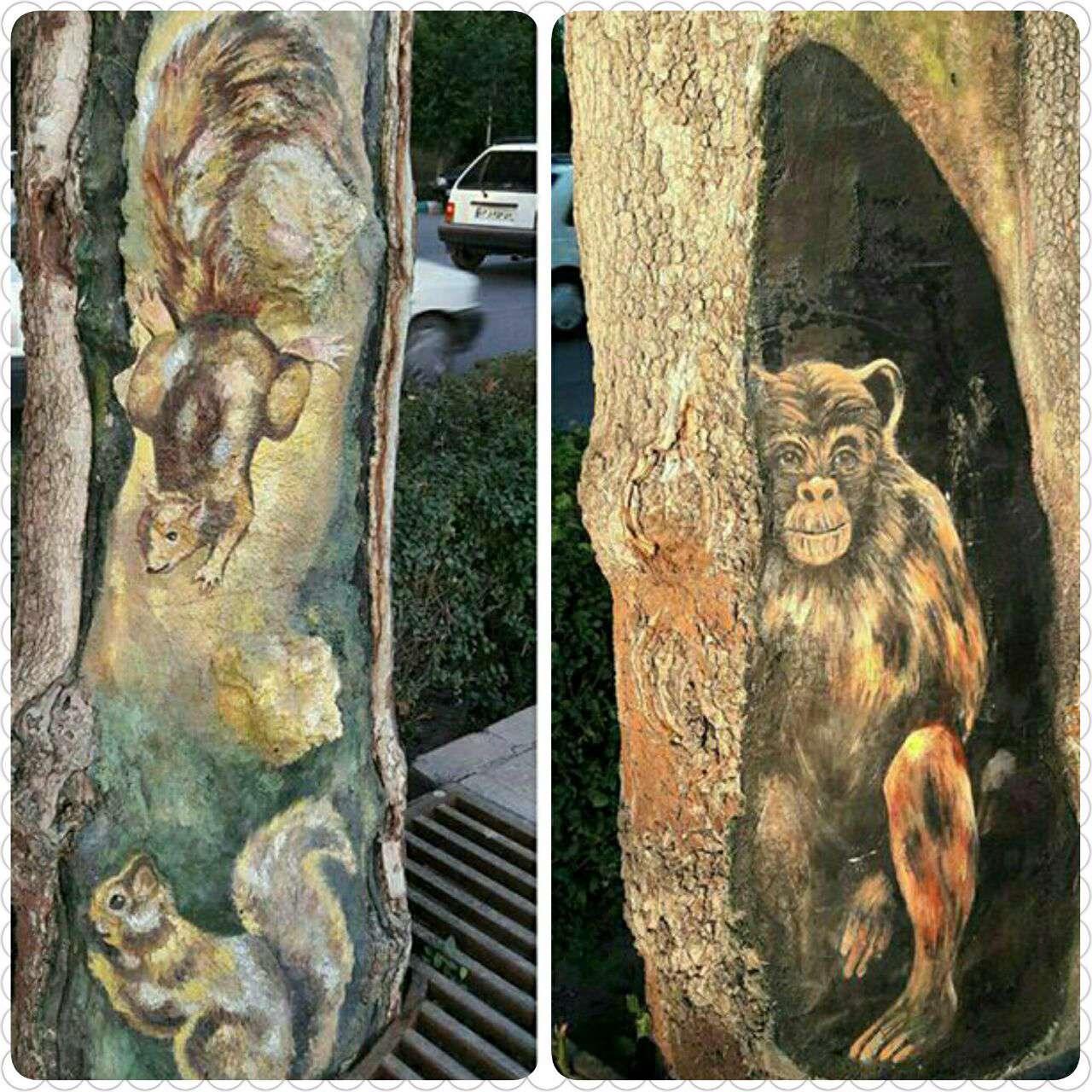 طراحی جالب روی درخت